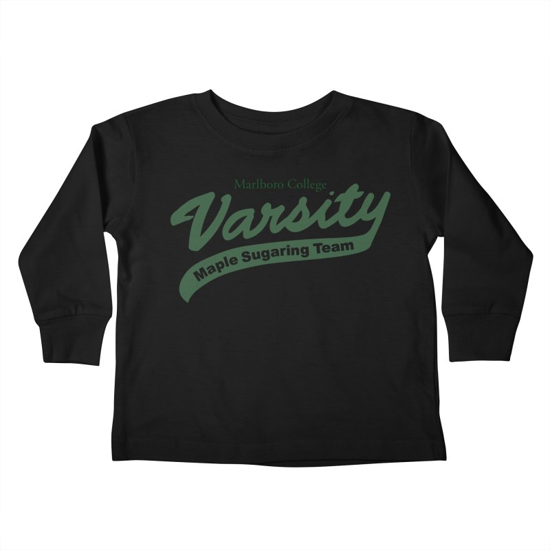 Varsity Maple Sugaring Kid's Shirt Kids Toddler Longsleeve T-Shirt by Marlboro Store's Artist Shop