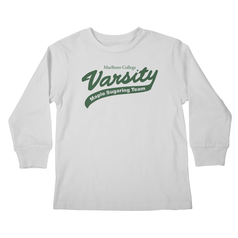Varsity Maple Sugaring Kid's Shirt Kids Longsleeve T-Shirt by Marlboro Store's Artist Shop