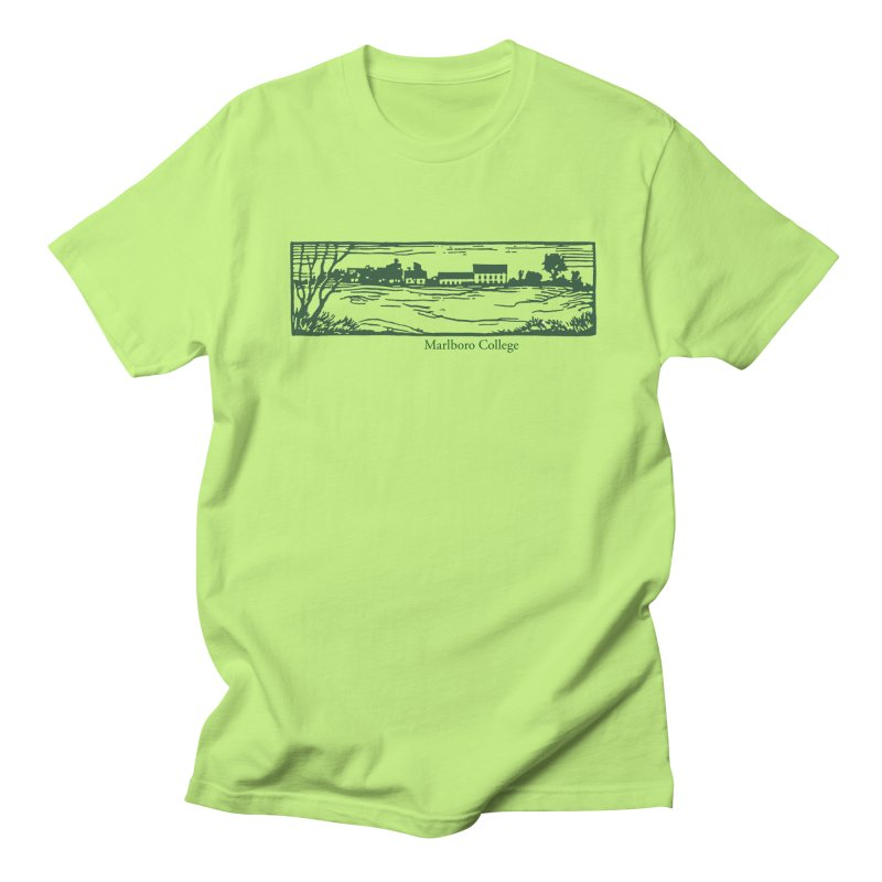 Unisex Campus Woodcut T-Shirt Men's Regular T-Shirt by Marlboro Store's Artist Shop