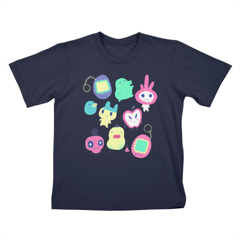 Tamagotchi Buddies Kids T-Shirt by Marlowe Dobbe