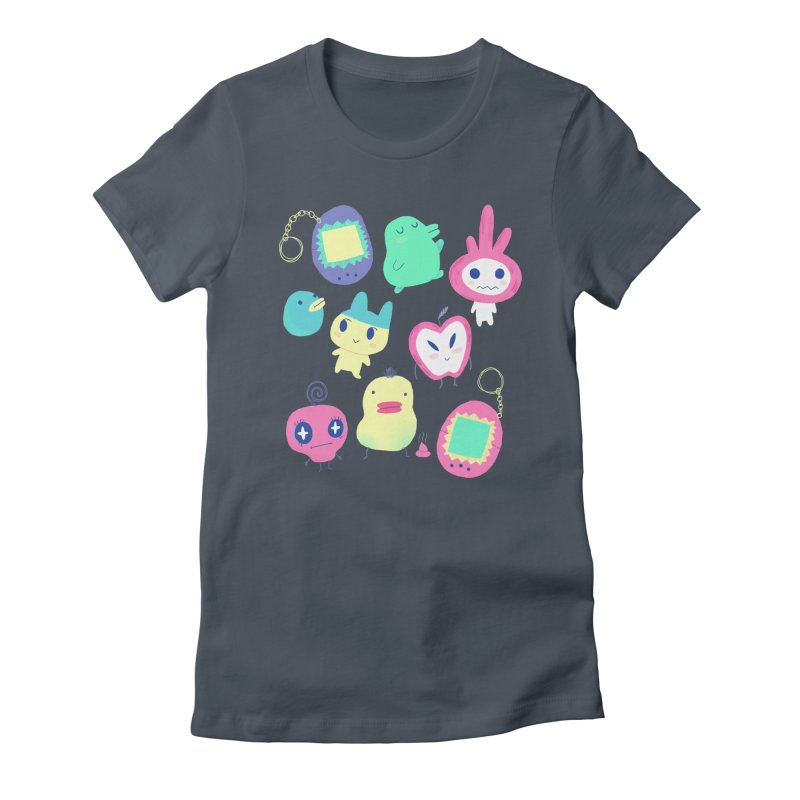 Tamagotchi Buddies Women's Fitted T-Shirt by Marlowe Dobbe