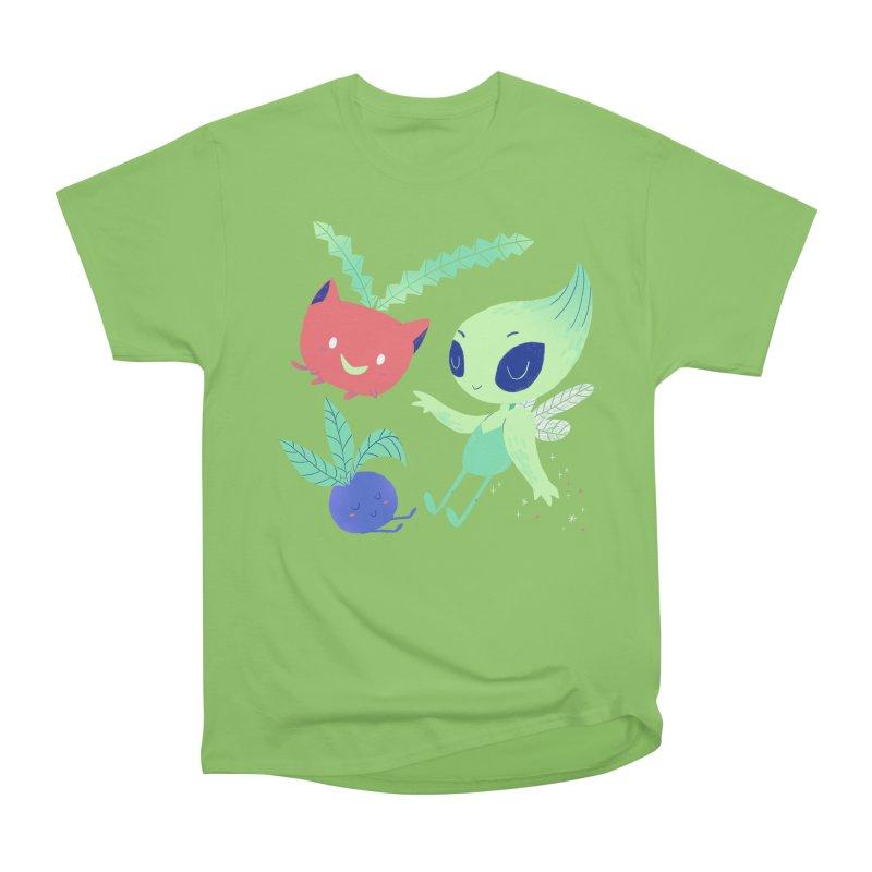 Grass Type Friends Men's Heavyweight T-Shirt by Marlowe Dobbe