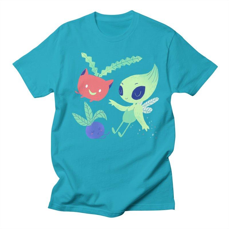 Grass Type Friends Men's Regular T-Shirt by Marlowe Dobbe
