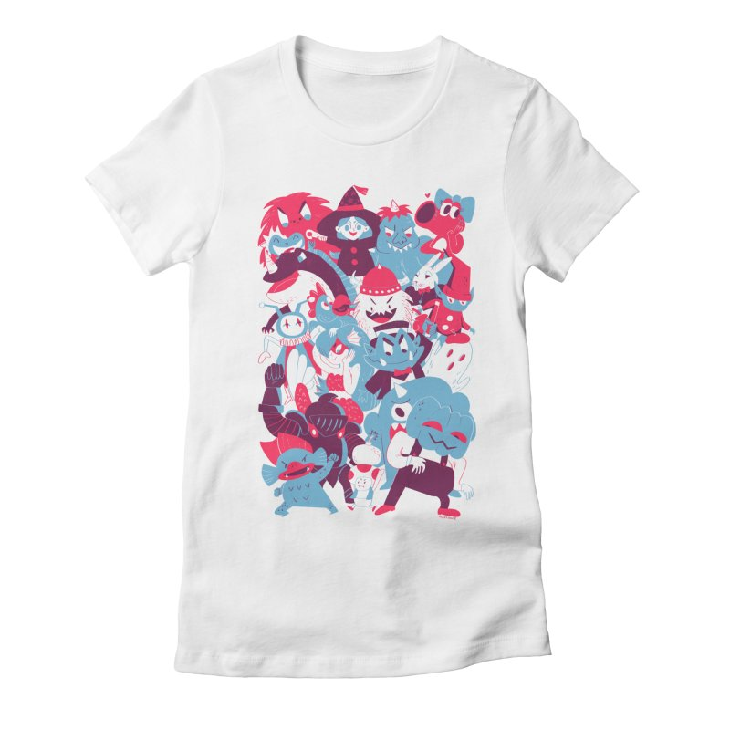 Wario's Woods Women's Fitted T-Shirt by Marlowe Dobbe