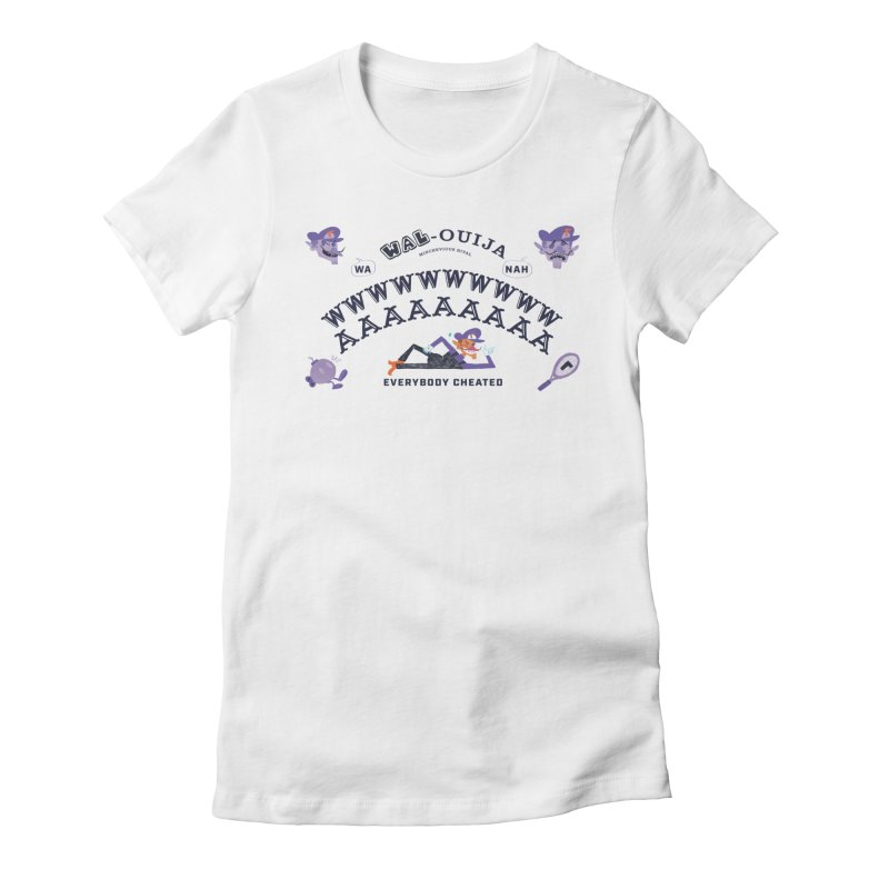 WAL-OUIJA Board Women's Fitted T-Shirt by Marlowe Dobbe