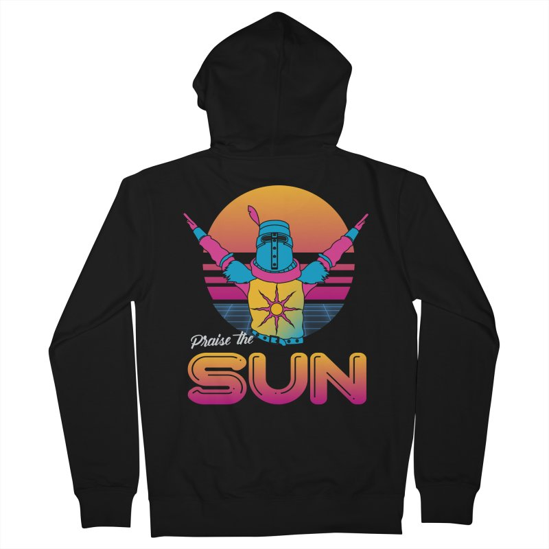 Praise the sun Men's French Terry Zip-Up Hoody by marpeach's Artist Shop