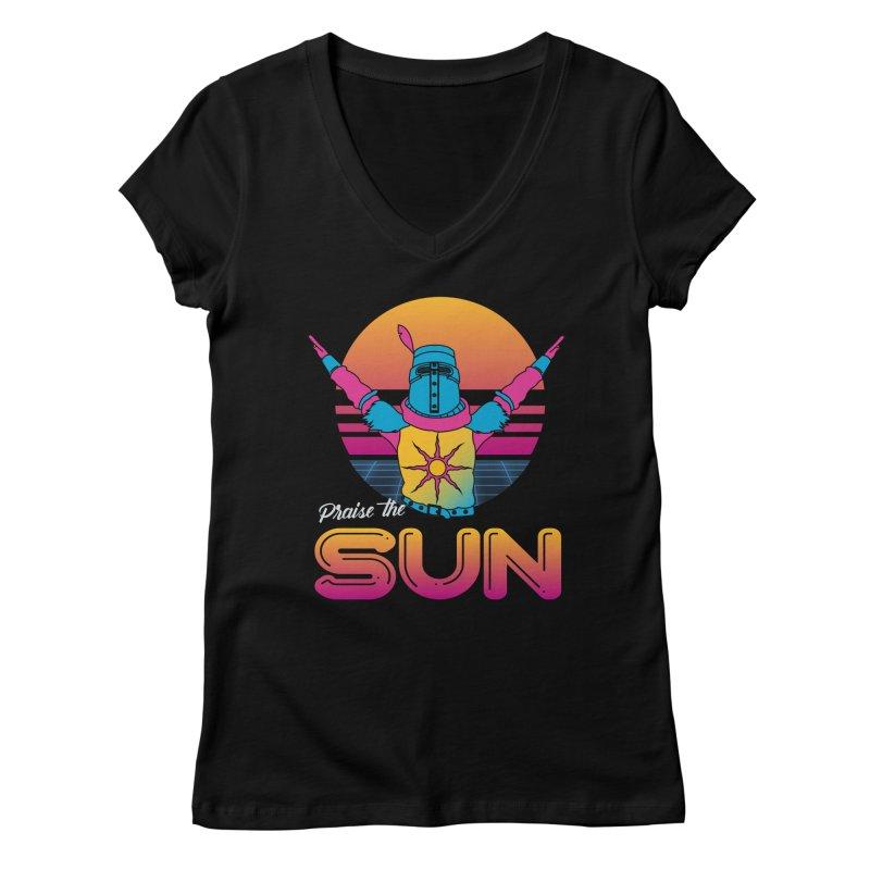 Praise the sun Women's Regular V-Neck by marpeach's Artist Shop