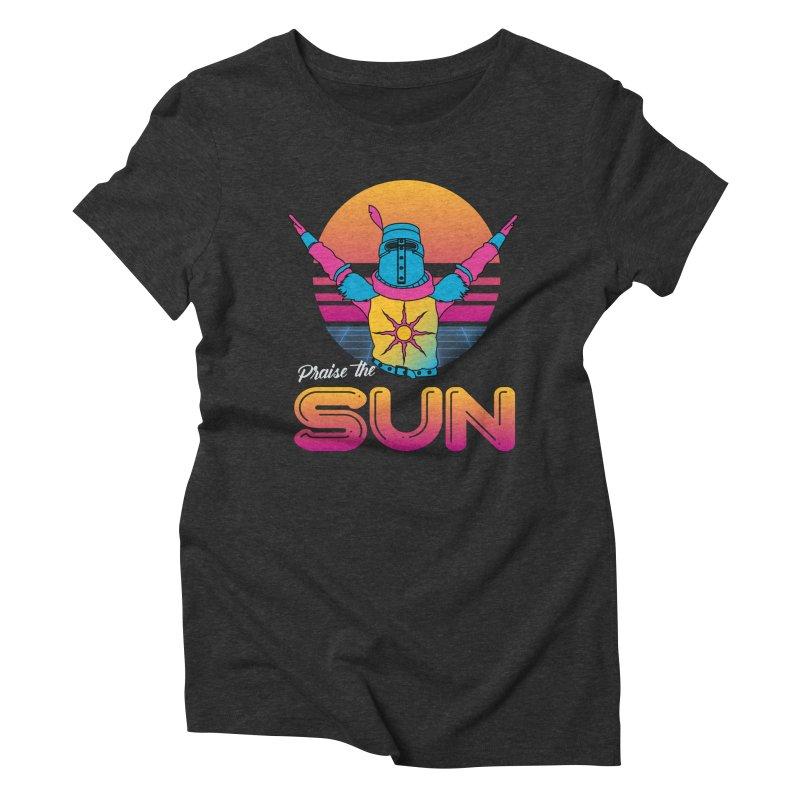Praise the sun Women's Triblend T-Shirt by marpeach's Artist Shop
