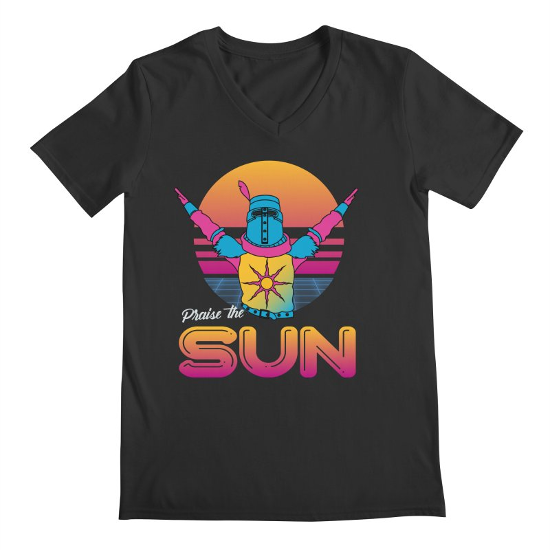 Praise the sun Men's Regular V-Neck by marpeach's Artist Shop