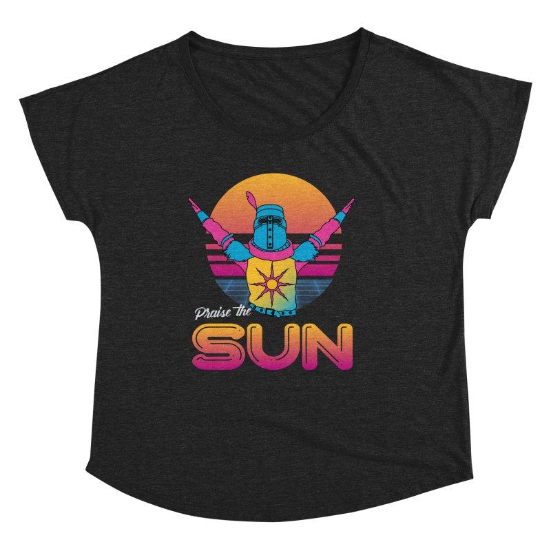 Praise the sun Women's Scoop Neck by marpeach's Artist Shop