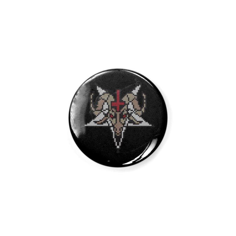 Pentagram cross stitching Accessories Button by marpeach's Artist Shop
