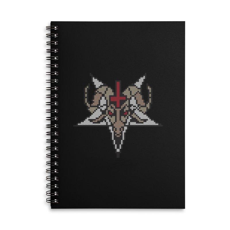 Pentagram cross stitching Accessories Lined Spiral Notebook by marpeach's Artist Shop