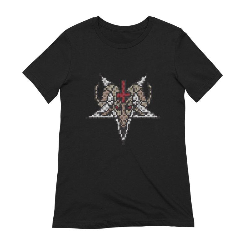 Pentagram cross stitching Women's Extra Soft T-Shirt by marpeach's Artist Shop