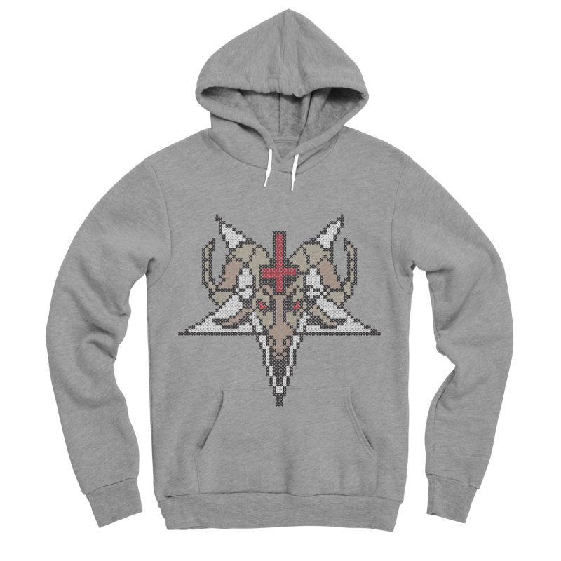 Pentagram cross stitching Men's Sponge Fleece Pullover Hoody by marpeach's Artist Shop