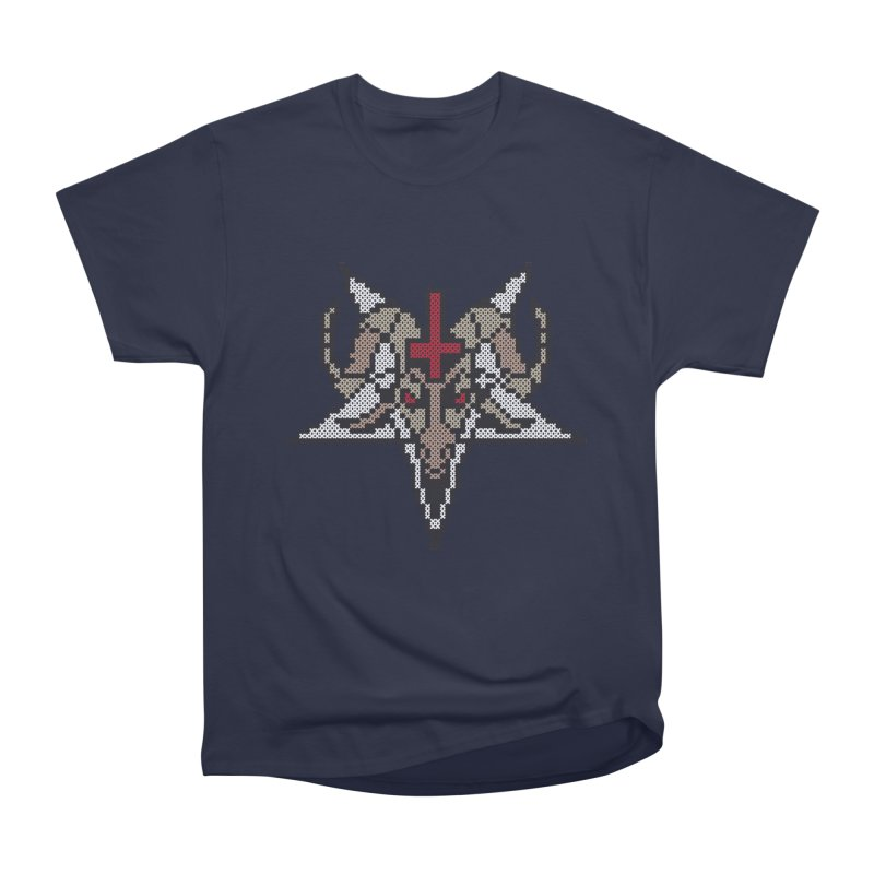 Pentagram cross stitching Women's Heavyweight Unisex T-Shirt by marpeach's Artist Shop