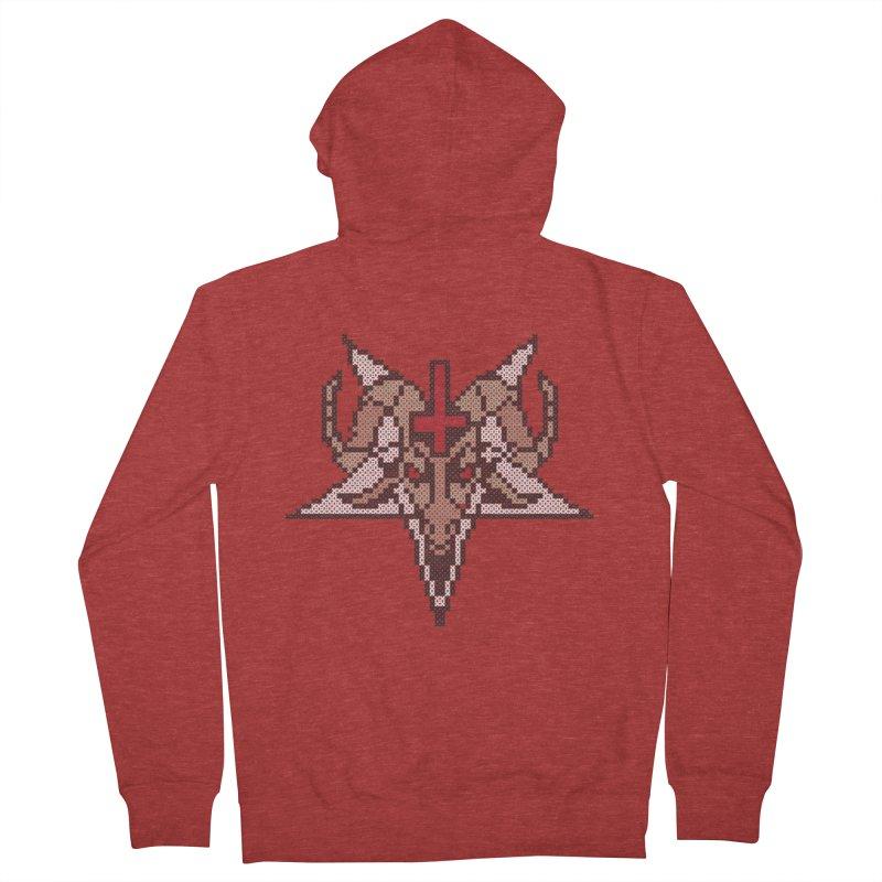 Pentagram cross stitching Women's French Terry Zip-Up Hoody by marpeach's Artist Shop
