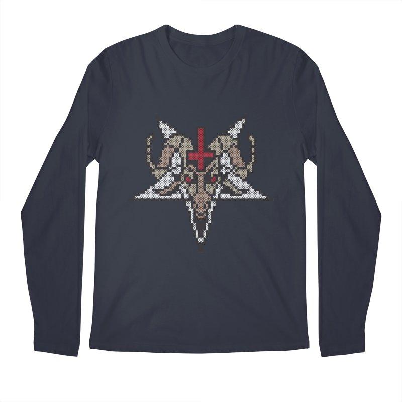Pentagram cross stitching Men's Regular Longsleeve T-Shirt by marpeach's Artist Shop