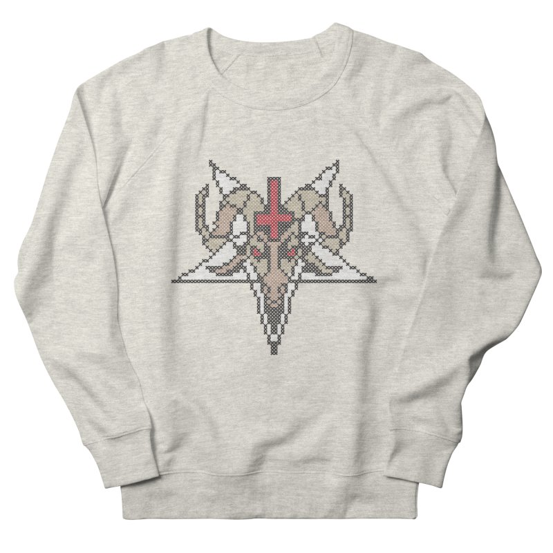 Pentagram cross stitching Men's French Terry Sweatshirt by marpeach's Artist Shop