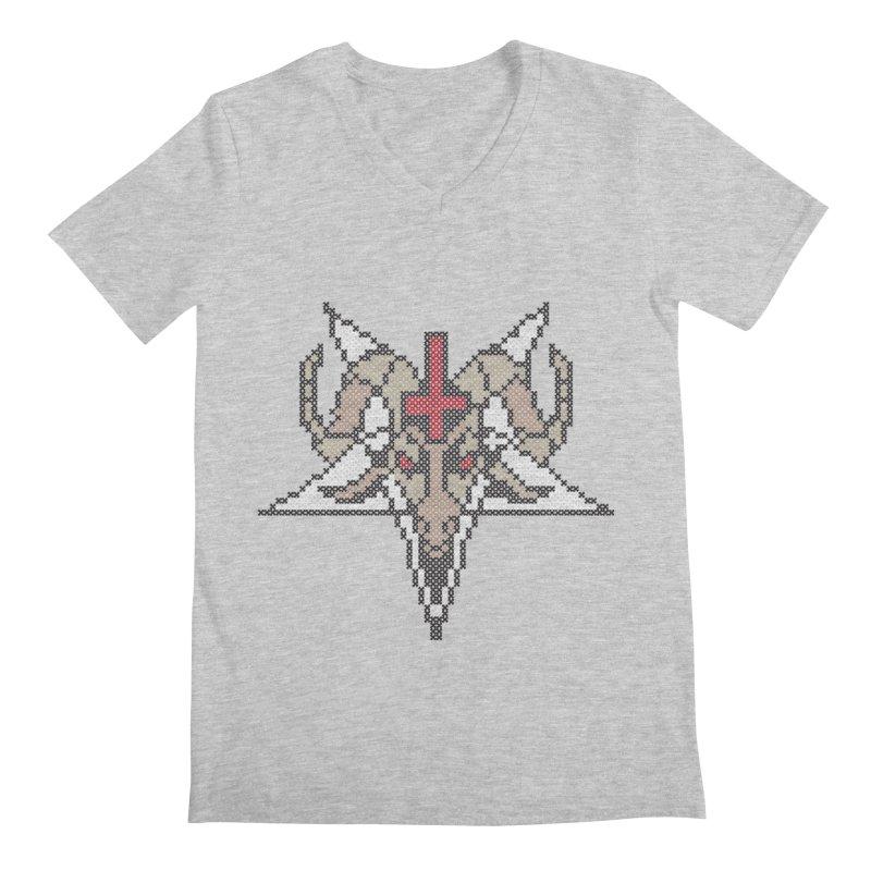 Pentagram cross stitching Men's Regular V-Neck by marpeach's Artist Shop