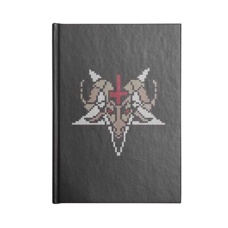 Pentagram cross stitching Accessories Notebook by marpeach's Artist Shop