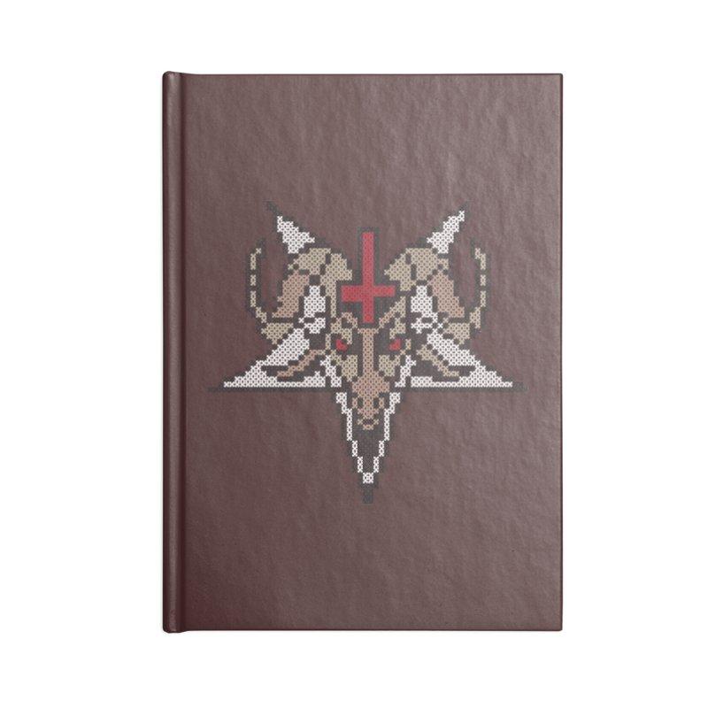 Pentagram cross stitching Accessories Lined Journal Notebook by marpeach's Artist Shop