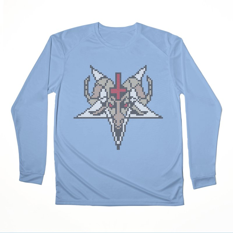 Pentagram cross stitching Men's Performance Longsleeve T-Shirt by marpeach's Artist Shop