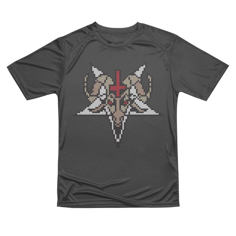 Pentagram cross stitching Women's Performance Unisex T-Shirt by marpeach's Artist Shop