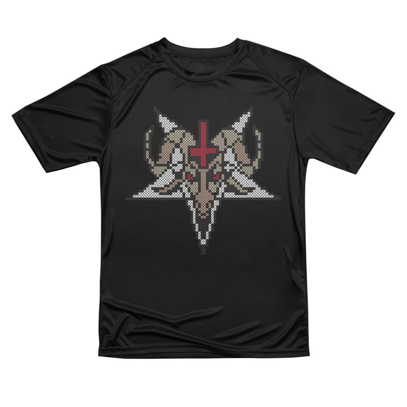 Pentagram cross stitching Women's Performance Unisex T-Shirt by marpeach's Artist Shop