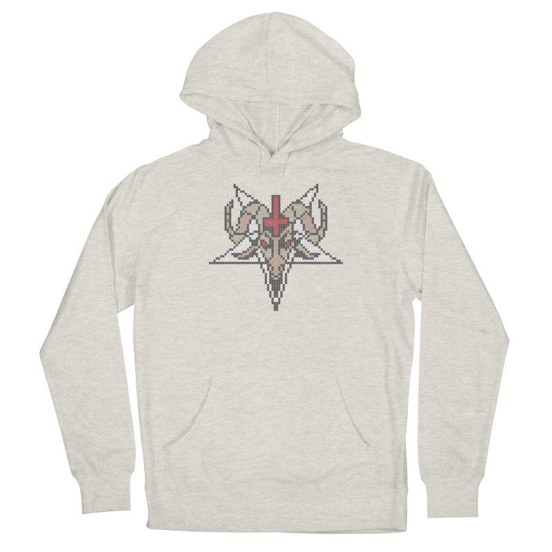 Pentagram cross stitching Men's Pullover Hoody by marpeach's Artist Shop