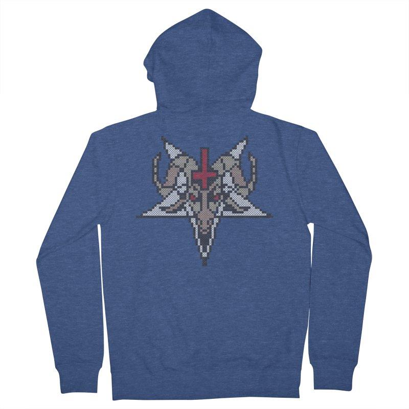 Pentagram cross stitching Men's Zip-Up Hoody by marpeach's Artist Shop