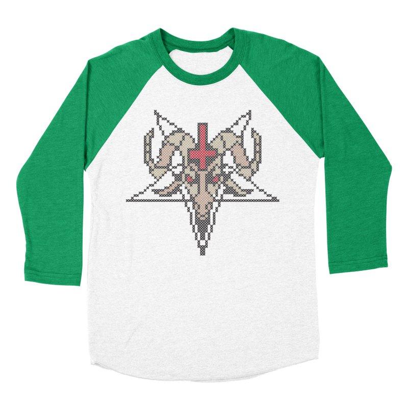 Pentagram cross stitching Women's Baseball Triblend Longsleeve T-Shirt by marpeach's Artist Shop