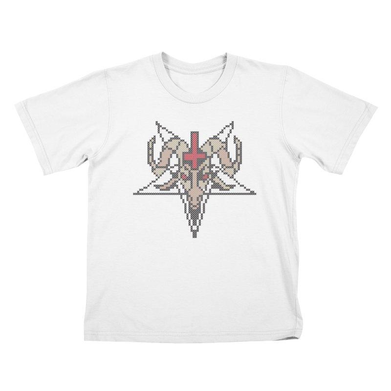Pentagram cross stitching Kids T-Shirt by marpeach's Artist Shop