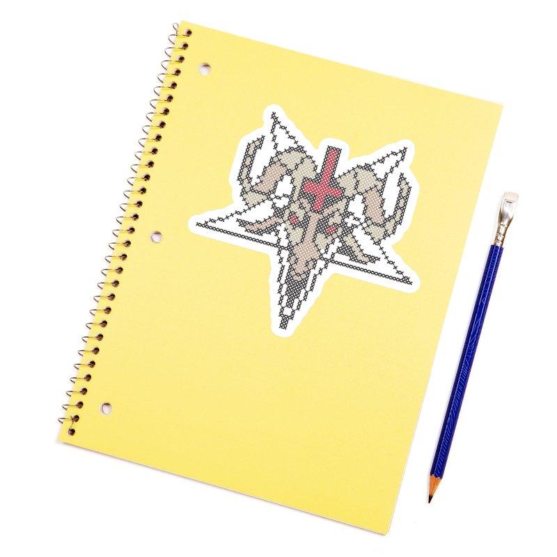 Pentagram cross stitching Accessories Sticker by marpeach's Artist Shop