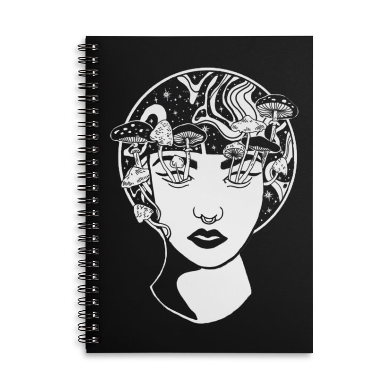 Mindless Accessories Lined Spiral Notebook by marpeach's Artist Shop