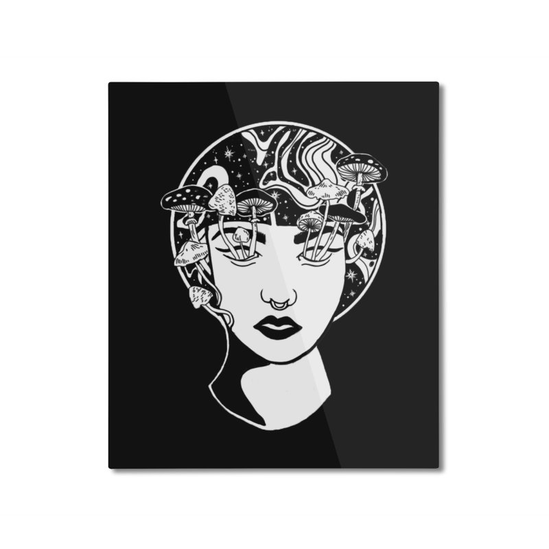 Mindless Home Mounted Aluminum Print by marpeach's Artist Shop