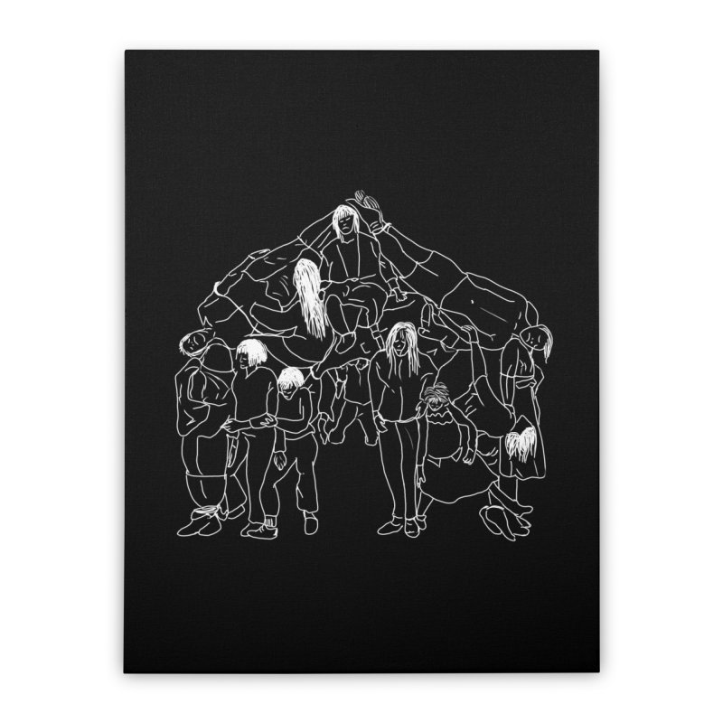 The house that jack built Home Stretched Canvas by marpeach's Artist Shop