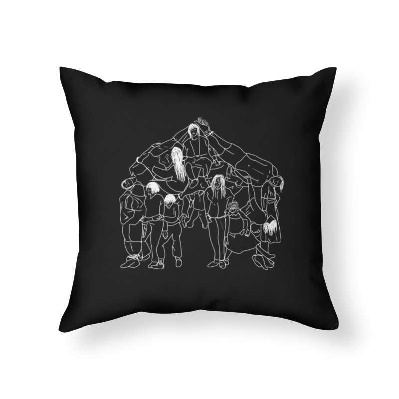 The house that jack built Home Throw Pillow by marpeach's Artist Shop