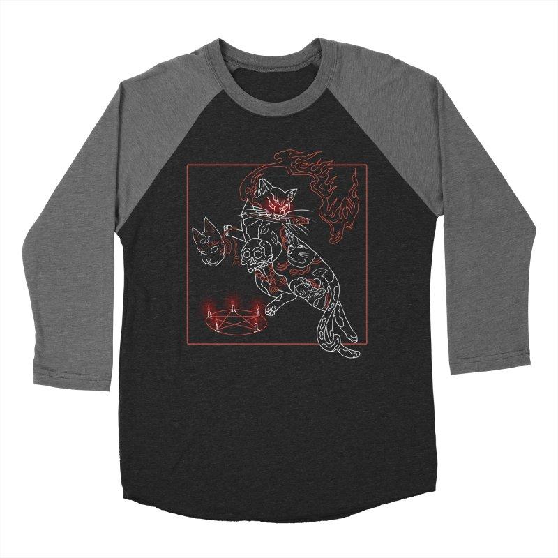 Nekomata (猫又) Men's Baseball Triblend Longsleeve T-Shirt by marpeach's Artist Shop