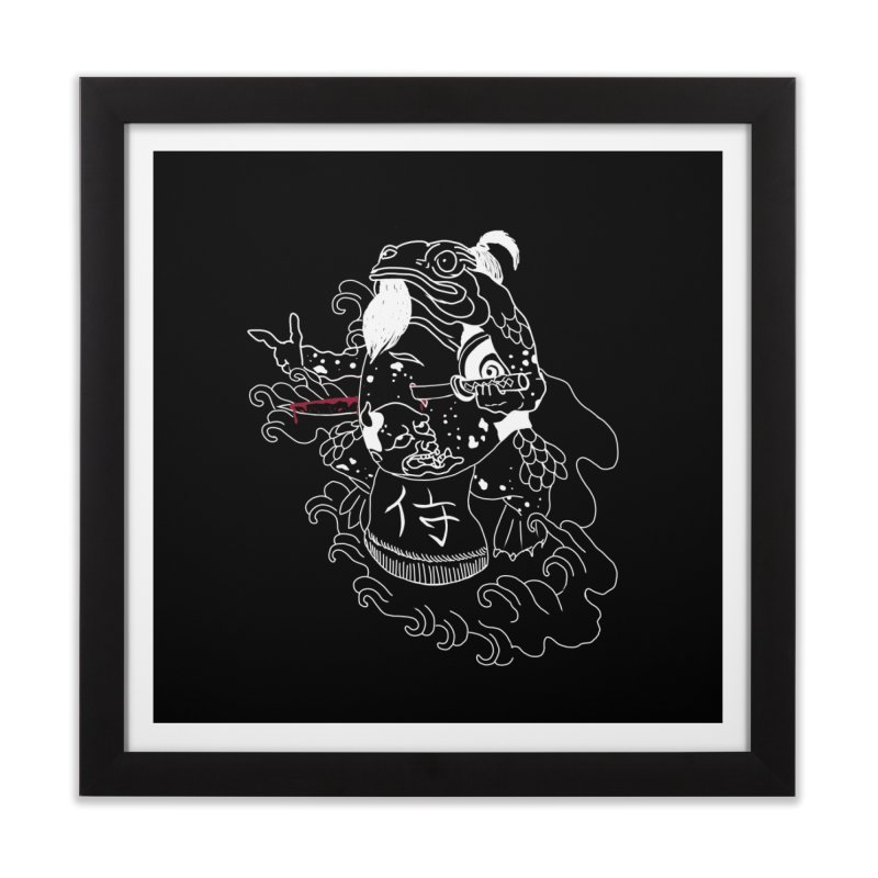 Toad 腹霧 Home Framed Fine Art Print by marpeach's Artist Shop