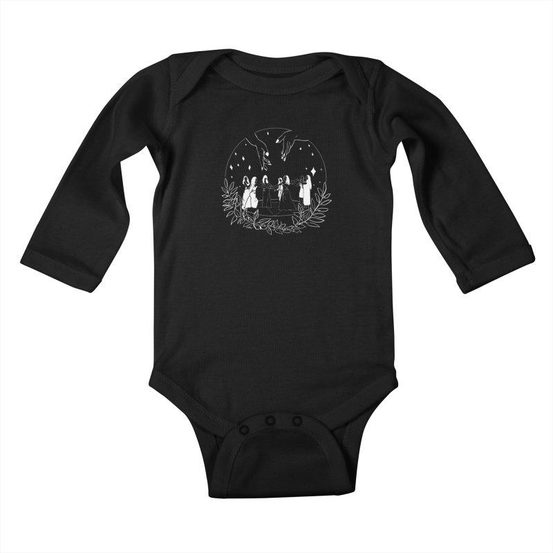 Coven Kids Baby Longsleeve Bodysuit by marpeach's Artist Shop
