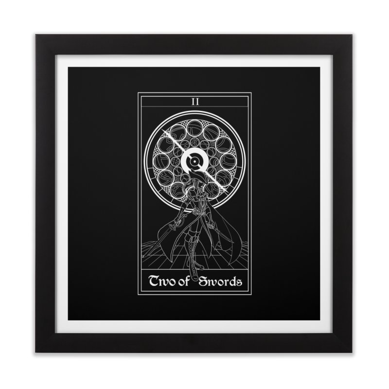 Two of Swords Home Framed Fine Art Print by marpeach's Artist Shop