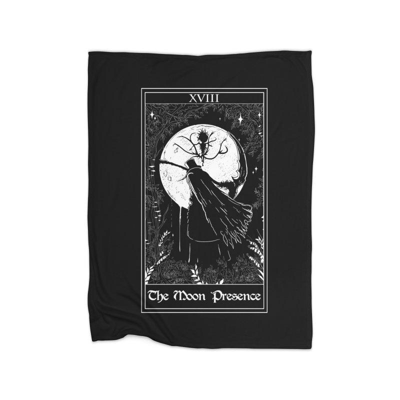 The Moon Presence Home Fleece Blanket Blanket by marpeach's Artist Shop