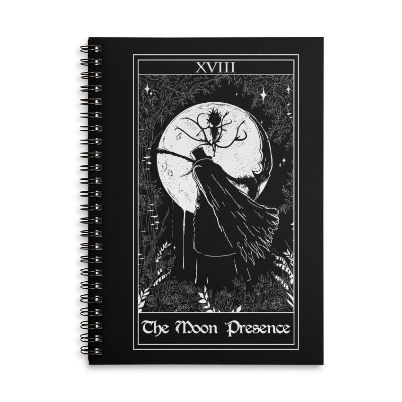 The Moon Presence Accessories Lined Spiral Notebook by marpeach's Artist Shop