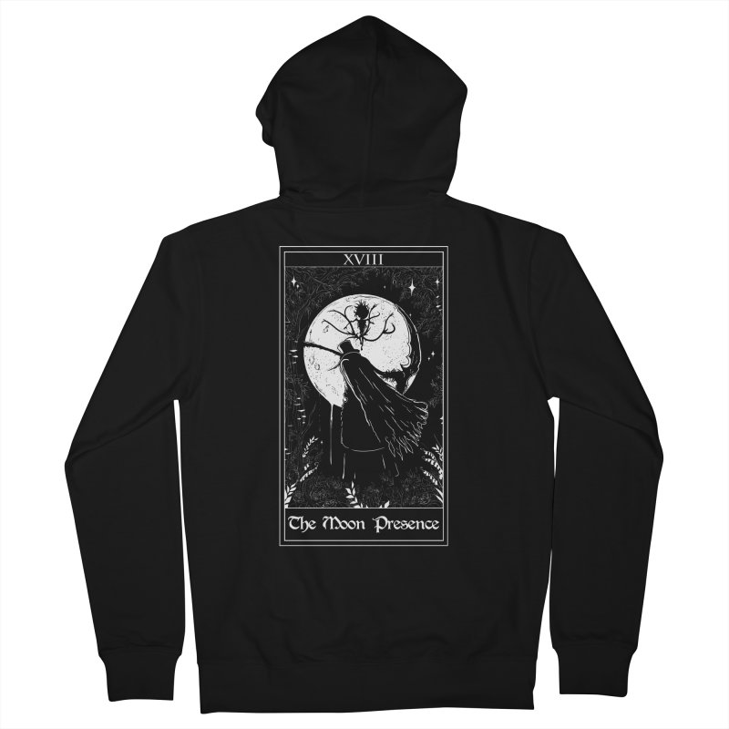 The Moon Presence Men's French Terry Zip-Up Hoody by marpeach's Artist Shop