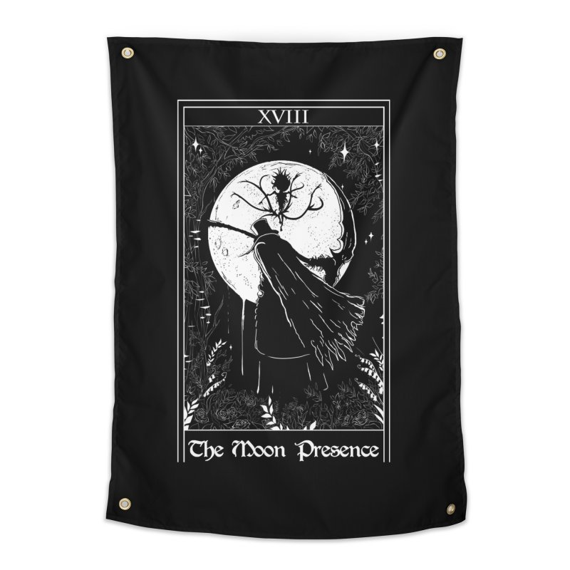 The Moon Presence Home Tapestry by marpeach's Artist Shop