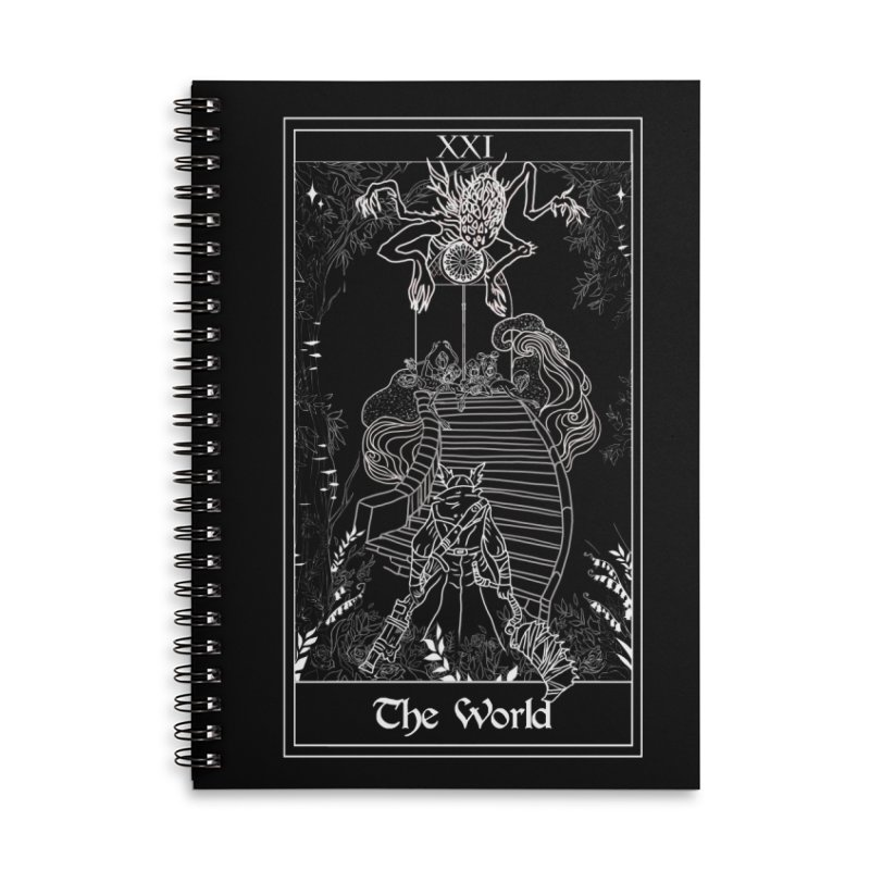 The World Accessories Lined Spiral Notebook by marpeach's Artist Shop