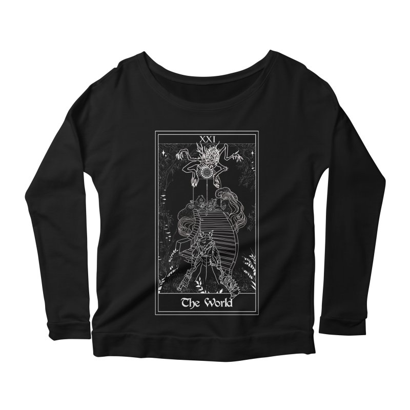 The World Women's Scoop Neck Longsleeve T-Shirt by marpeach's Artist Shop