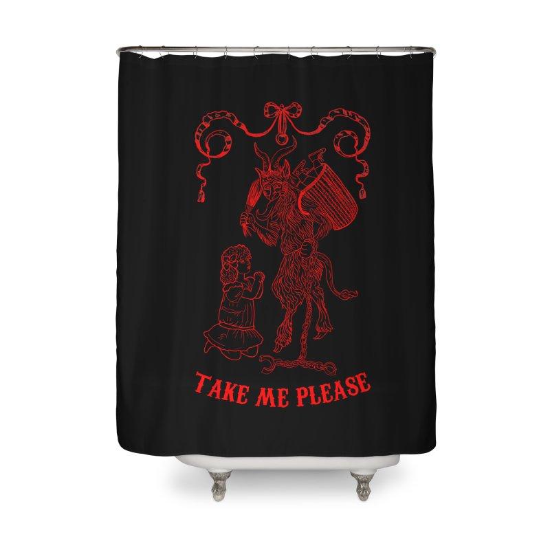Krampus Home Shower Curtain by marpeach's Artist Shop