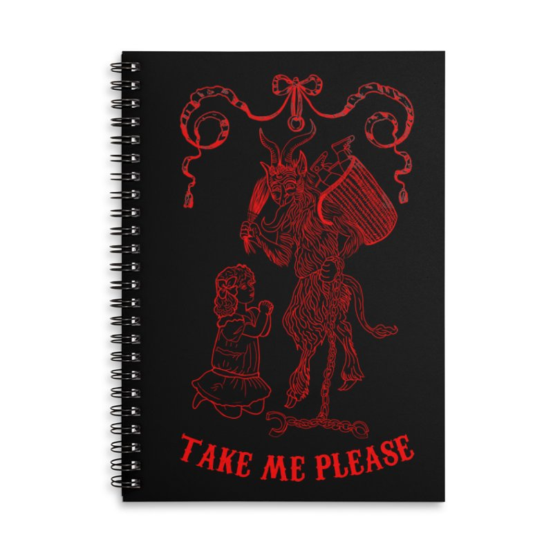 Krampus Accessories Lined Spiral Notebook by marpeach's Artist Shop