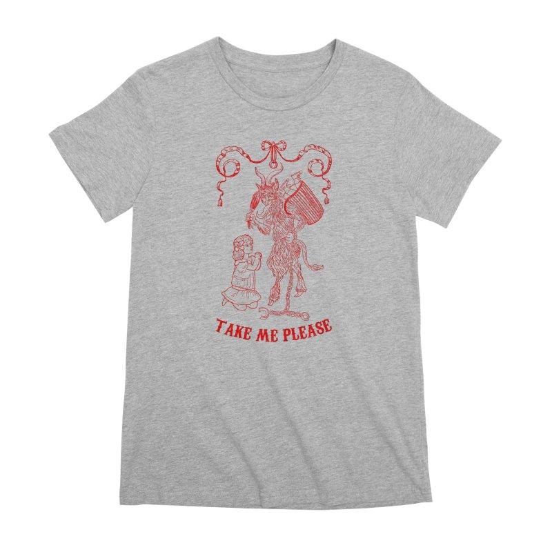 Krampus Women's Premium T-Shirt by marpeach's Artist Shop